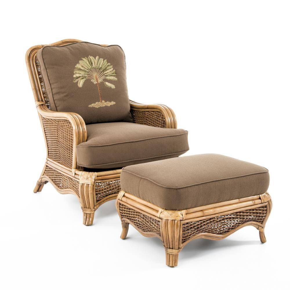 Braxton Culler Shorewood Tropical Rattan Chair And Ottoman Set with Braxton Culler Sofas (Image 8 of 15)