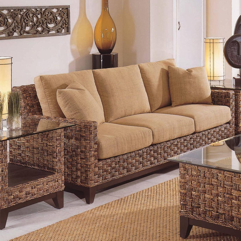 Braxton Culler Tribeca 2960 Modern Wicker Three Seat Queen Sleeper regarding Braxton Sofas (Image 4 of 15)