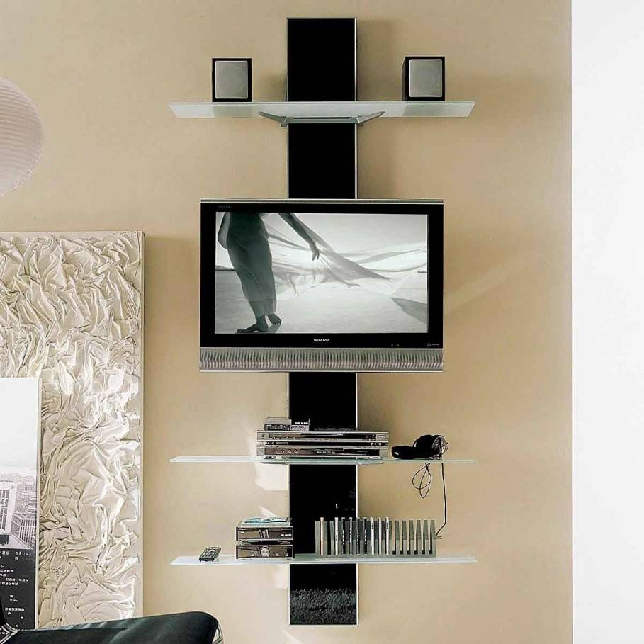 Breathtaking Unusual Tv Stands With Modern Led Tv Under Two Square with Unusual Tv Stands (Image 4 of 15)