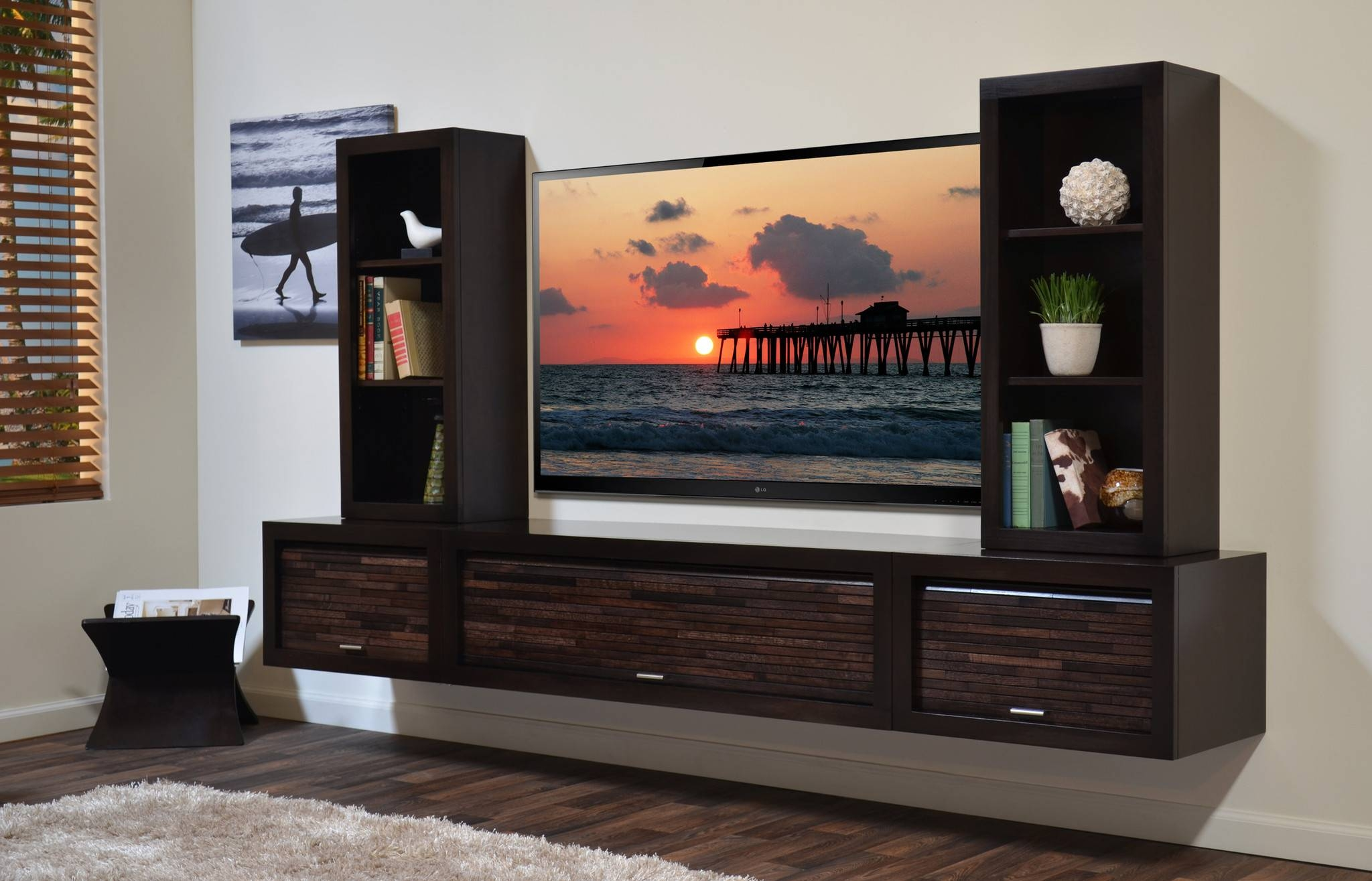 Bright And Modern Wall Entertainment Shelf Nice Ideas Floating throughout Entertainment Center Tv Stands (Image 1 of 15)
