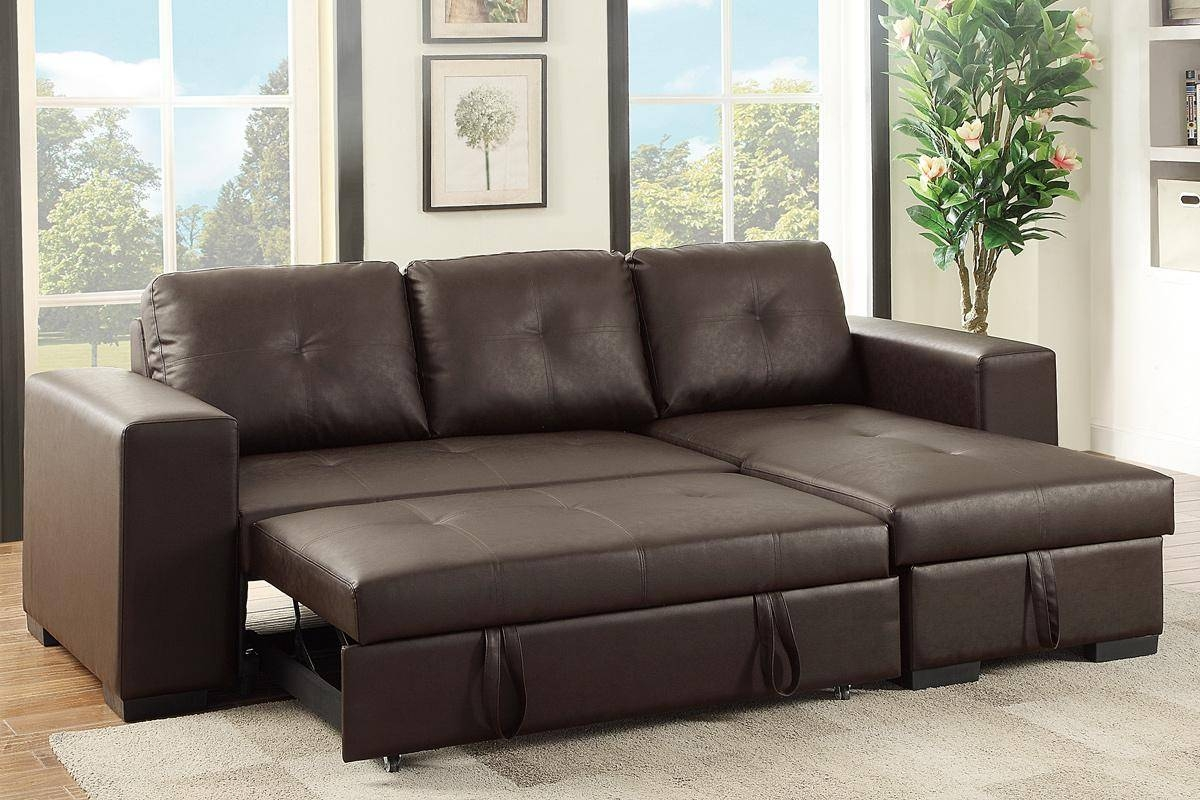 Brown Leather Sectional Sleeper Sofa - Steal-A-Sofa Furniture with Los Angeles Sleeper Sofas (Image 2 of 15)