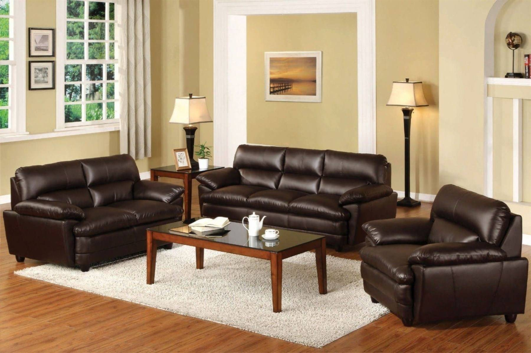 Brown Leather Sofa Living Room Ideas | Centerfieldbar within Brown Sofas Decorating (Image 6 of 15)