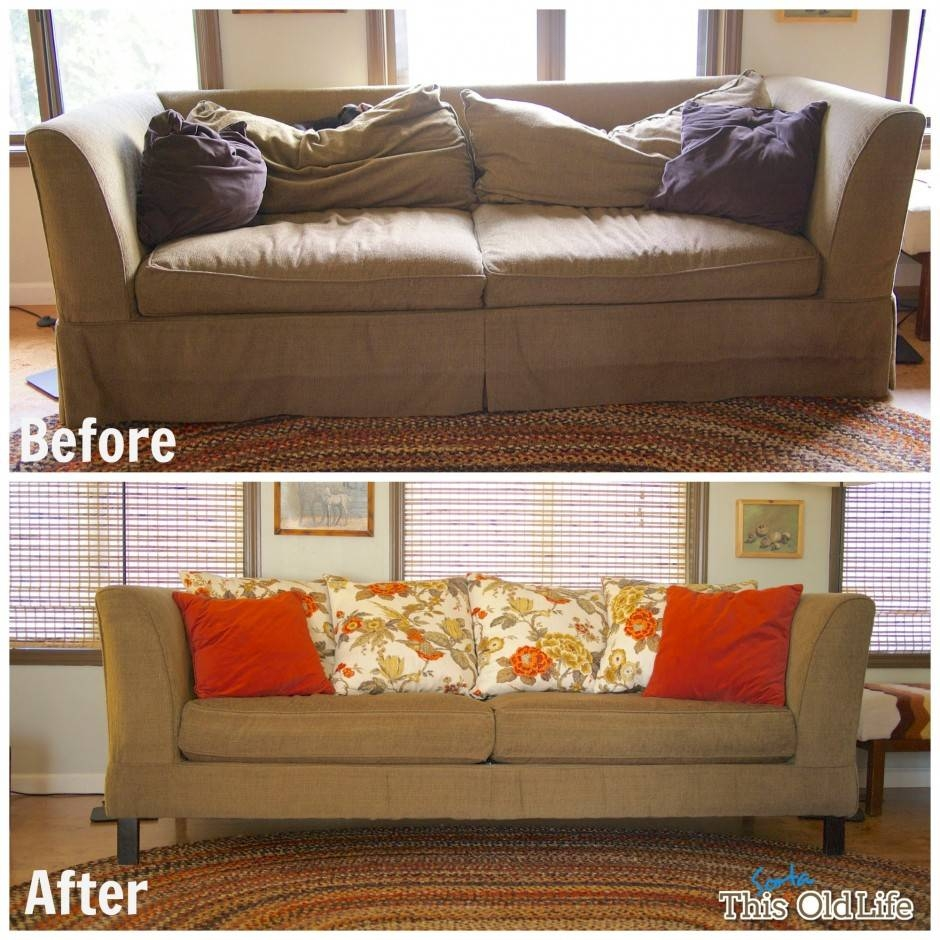 Brown Lola Bonded Leather Sofa Bed | Centerfieldbar in Reupholster Sofas Cushions (Image 3 of 15)