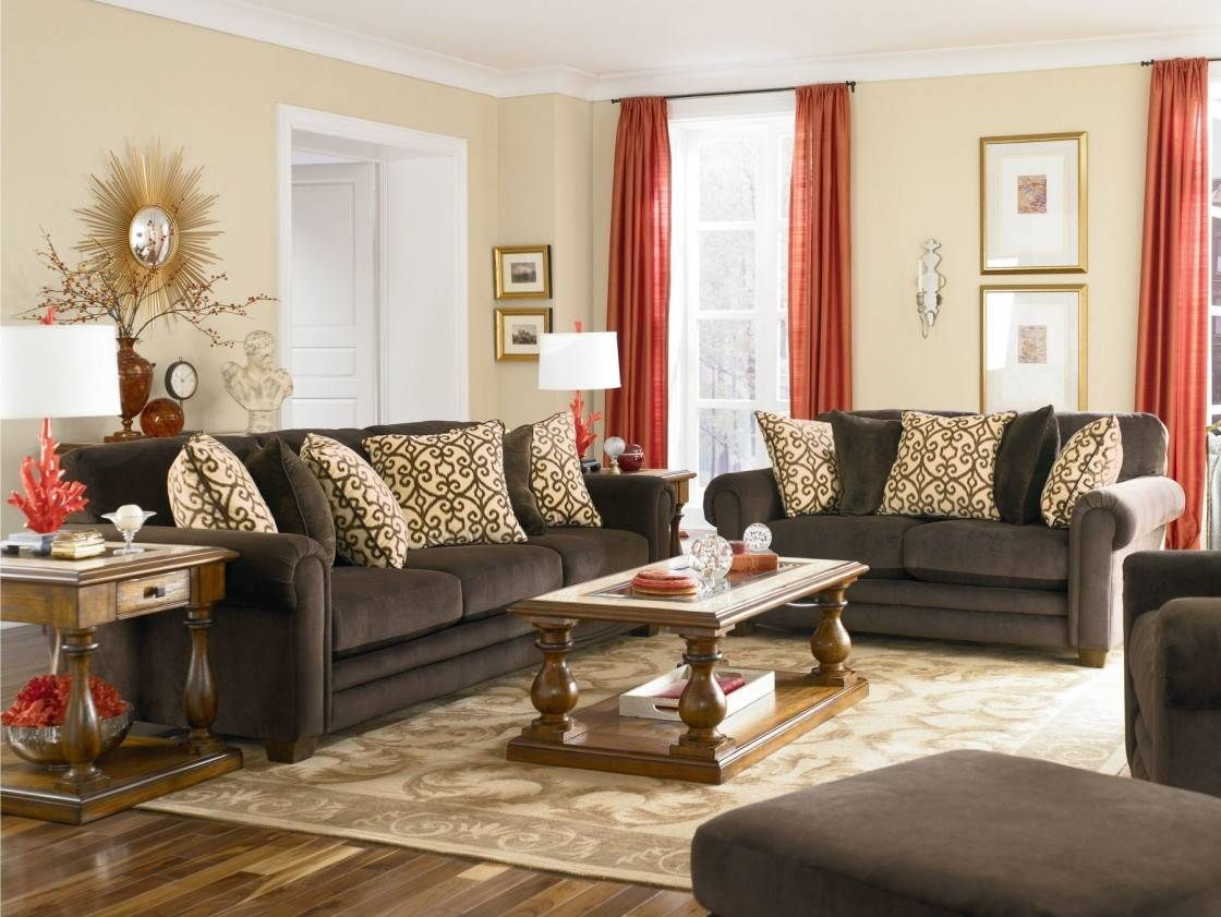 Brown Velvet Sofa Living Room – Modern House in Brown Velvet Sofas (Image 3 of 15)