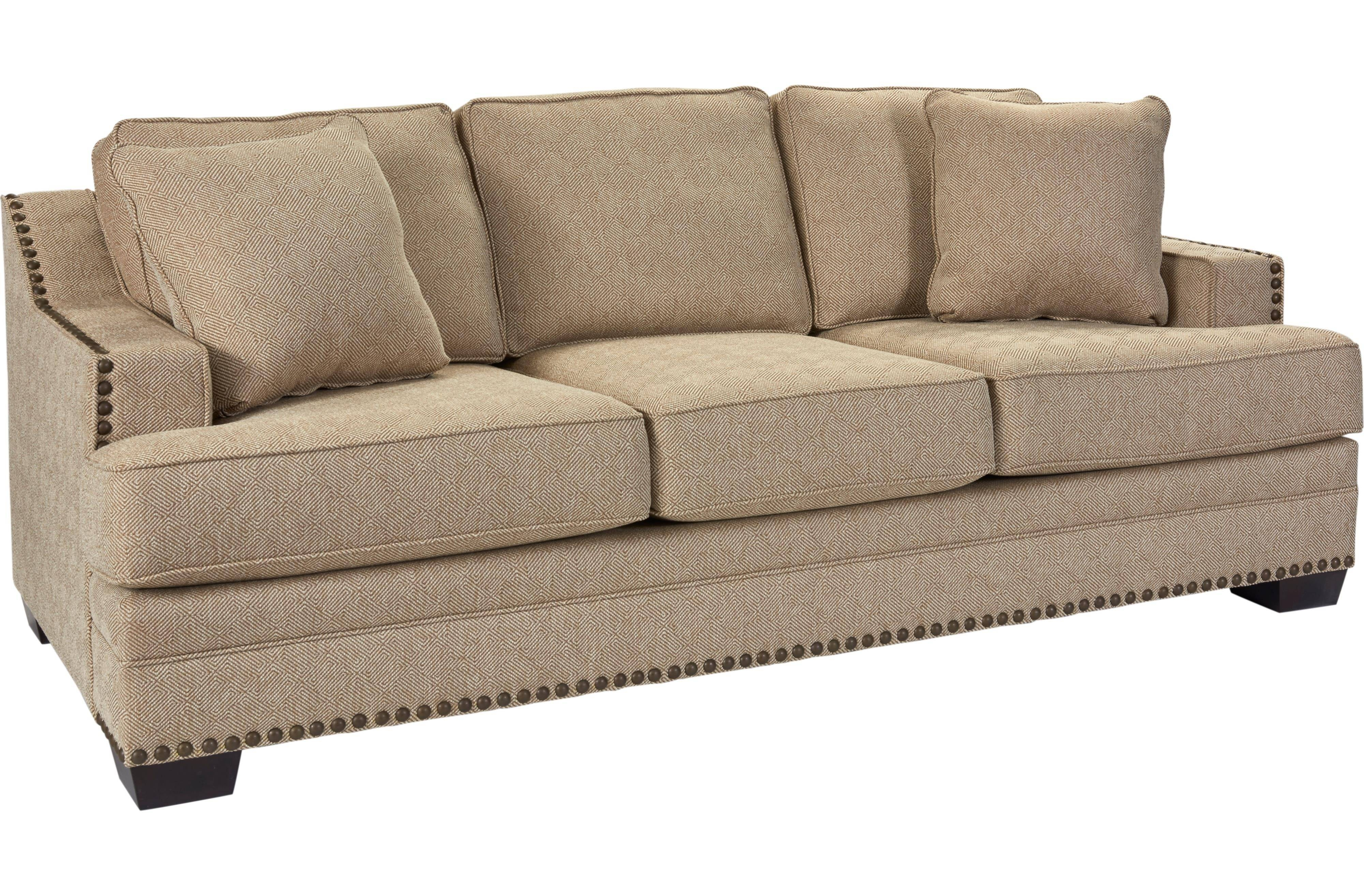 Broyhill Furniture Estes Park Contemporary Sofa With Nailhead Trim for Broyhill Reclining Sofas (Image 1 of 15)
