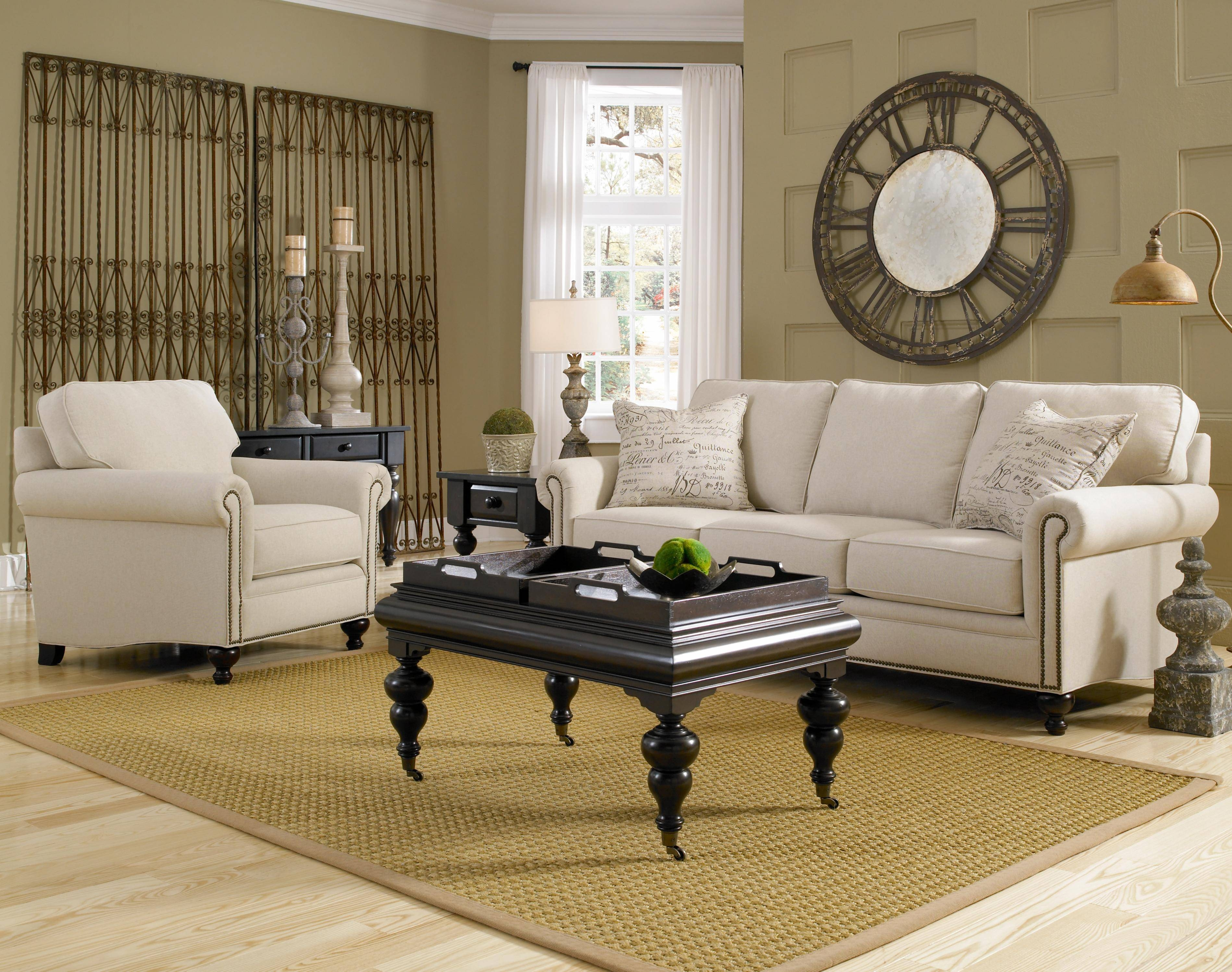 Broyhill Furniture Harrison Traditional Style Chair And Ottoman with regard to Broyhill Harrison Sofas (Image 6 of 15)