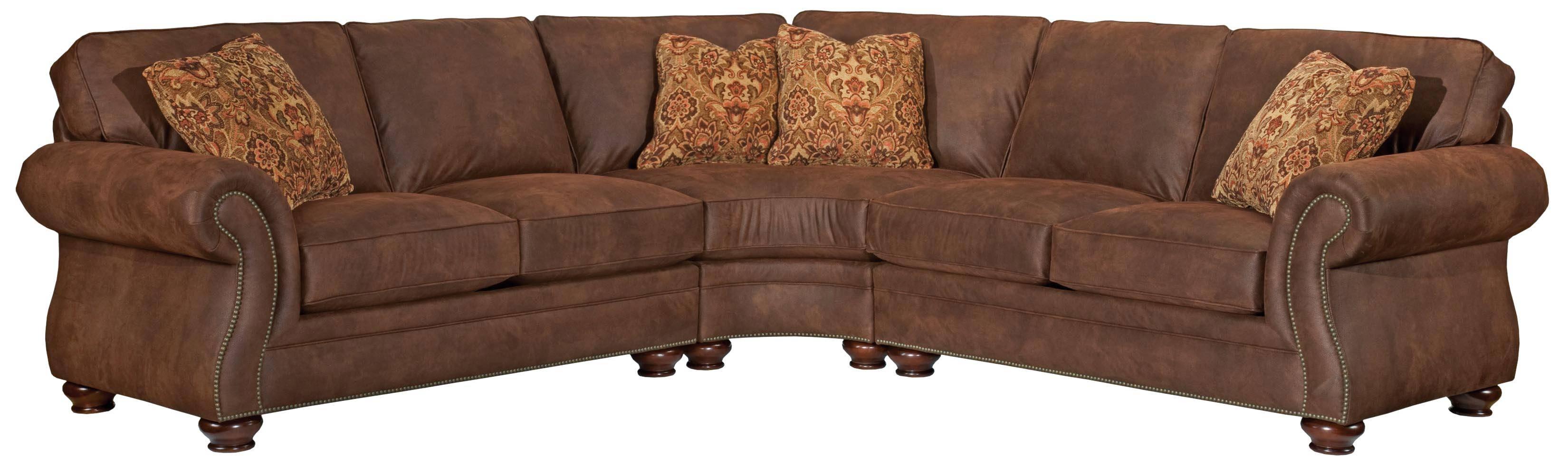 Broyhill Furniture Laramie 3 Piece Wedge Sectional Sofa - Ahfa inside Broyhill Harrison Sofas (Image 7 of 15)