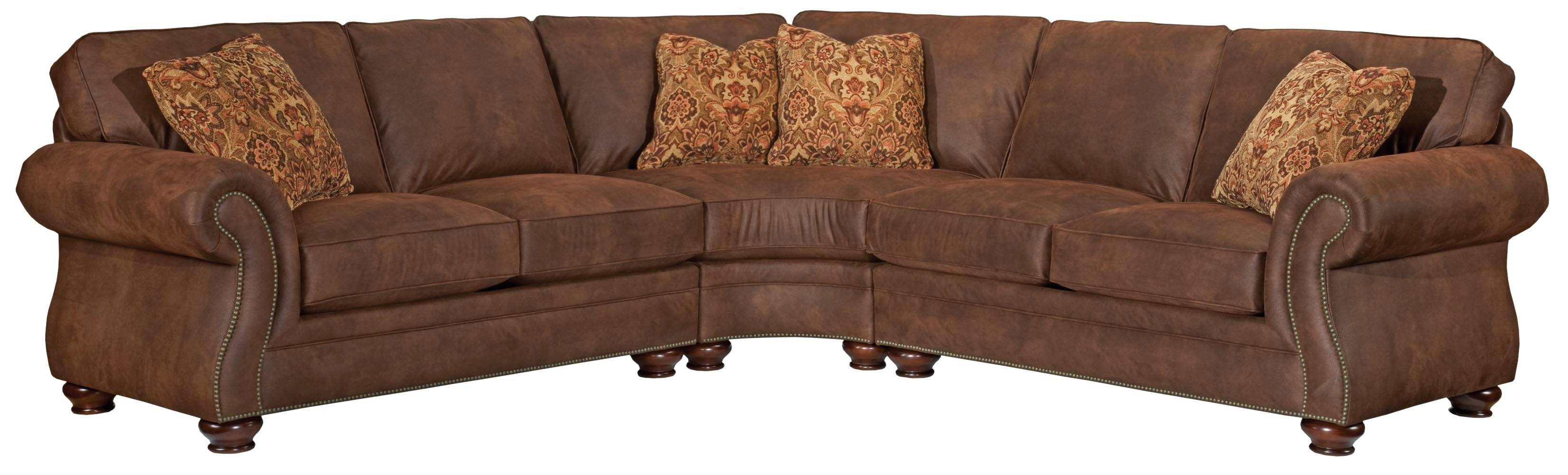 Broyhill Furniture Laramie 3 Piece Wedge Sectional Sofa - Ahfa throughout Broyhill Sectional Sleeper Sofas (Image 6 of 15)