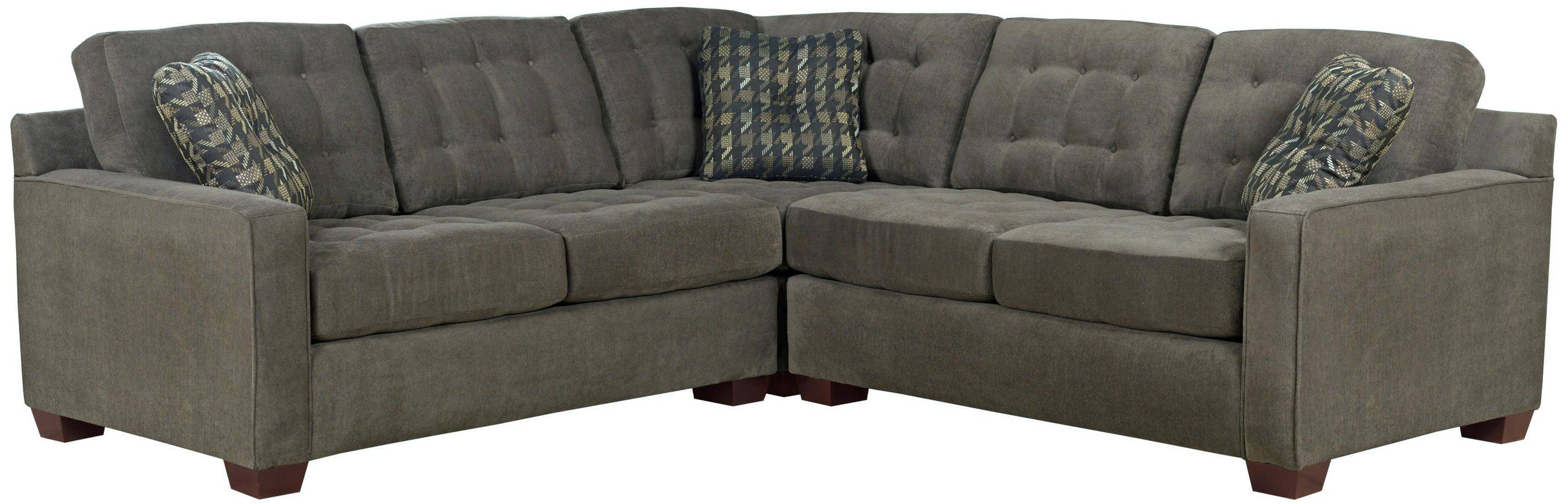 Broyhill Furniture Tribeca Contemporary L-Shaped Sectional Sofa with Broyhill Sectional Sleeper Sofas (Image 8 of 15)