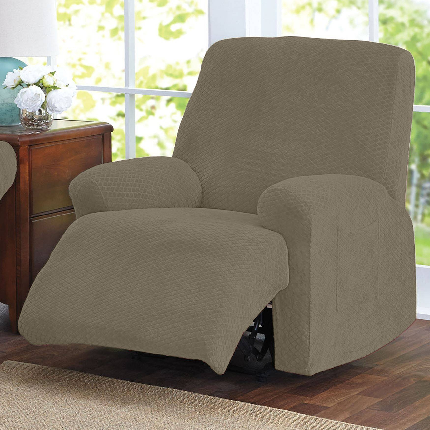 Brylanehome® Studio Stretch Diamond Recliner Slipcover | Recliner With Regard To Stretch Covers For Recliners (View 4 of 15)
