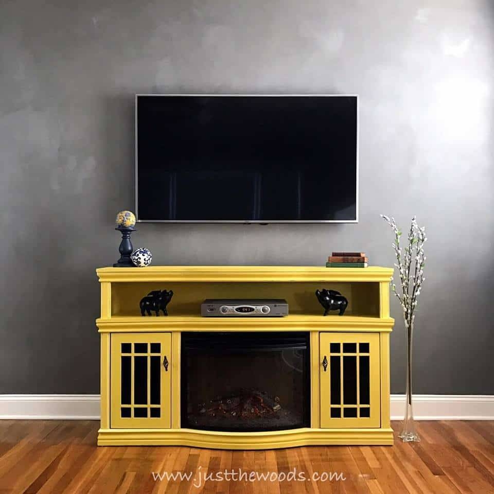 Budget Friendly Diy Tv Standsjust The Woods with regard to Yellow Tv Stands (Image 1 of 15)