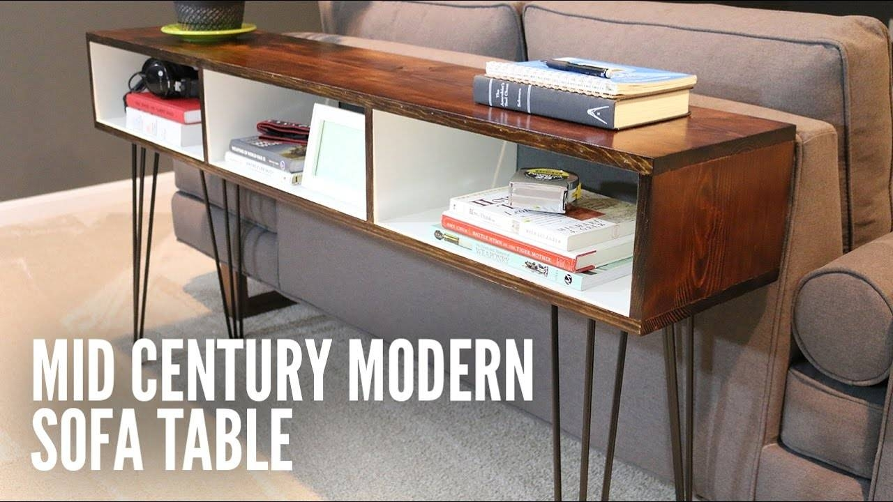 Build A Mid Century Modern Sofa Table   Youtube Pertaining To Computer Sofa Tables (Photo 7 of 15)