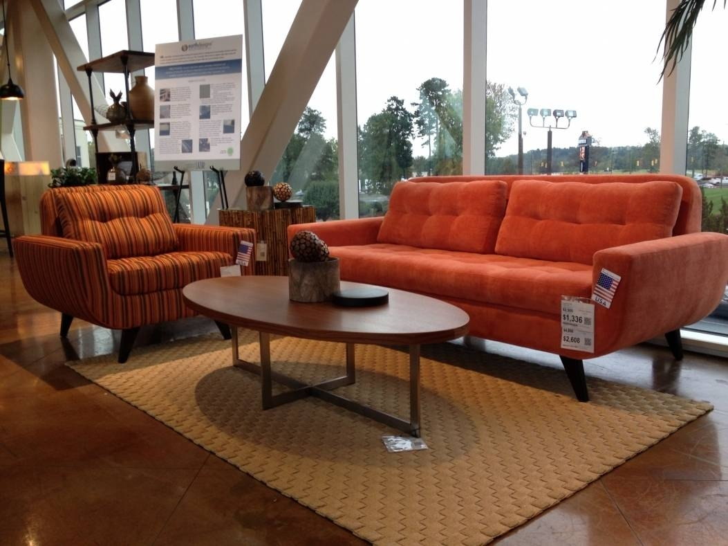 Burnt Orange Leather Sofa 98 With Burnt Orange Leather Sofa regarding Burnt Orange Leather Sofas (Image 5 of 15)