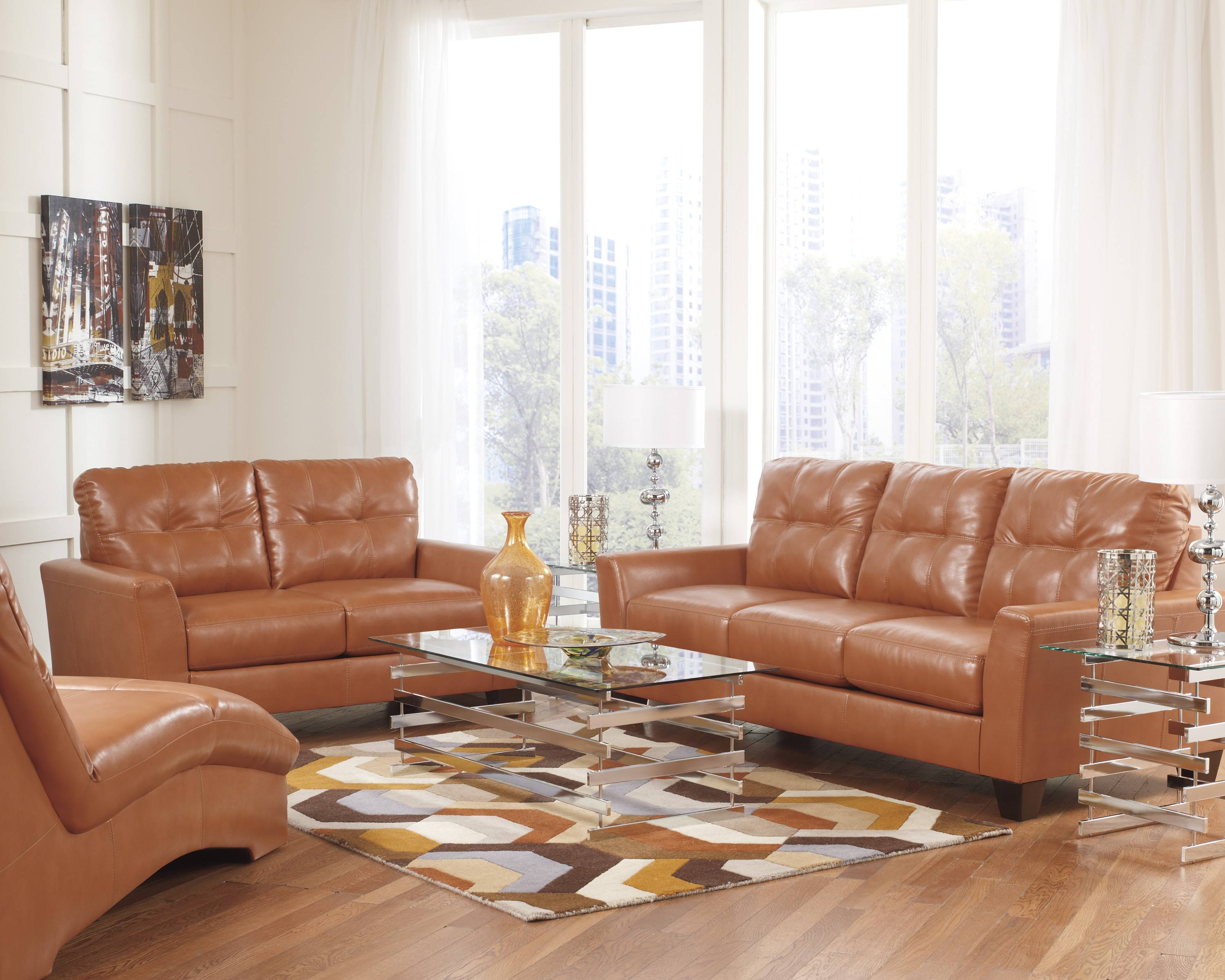 Burnt Orange Leather Sofa Trieste Living Room Collection. Living for Burnt Orange Leather Sofas (Image 6 of 15)