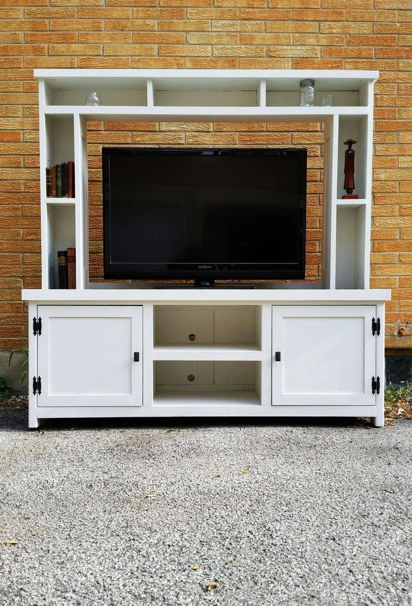 Buy A Hand Made Barn Wood, Tv Stand, Media Console, Entertainment pertaining to Wood Tv Entertainment Stands (Image 3 of 15)