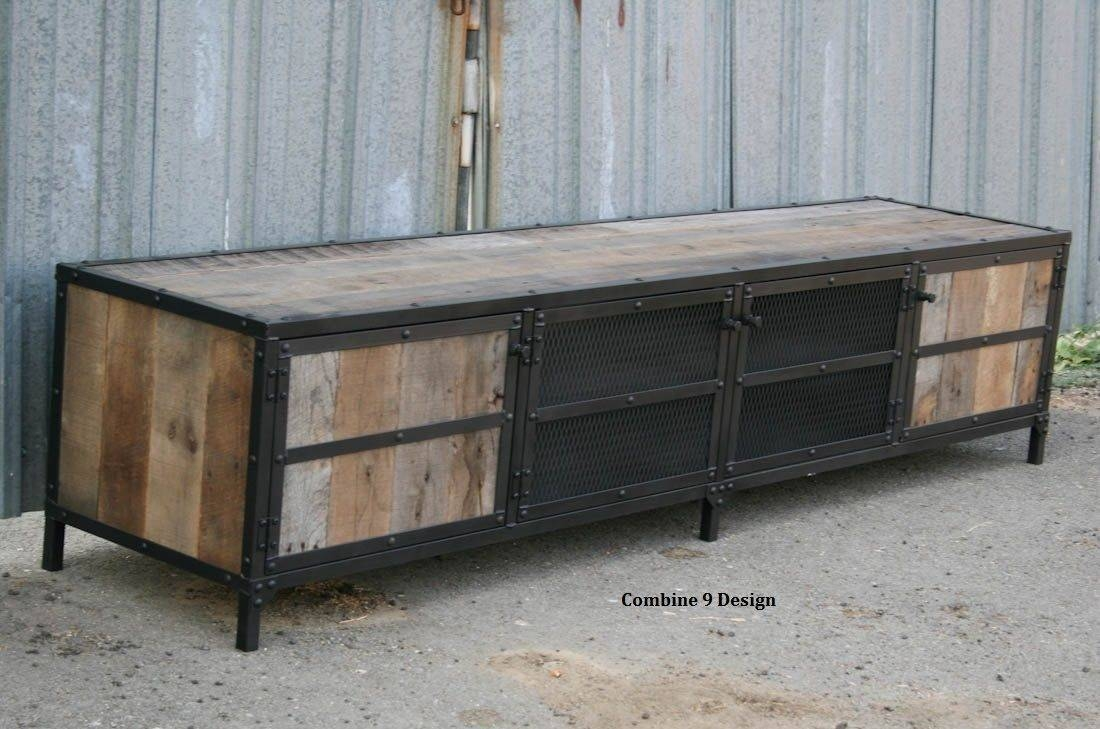 15 best ideas of reclaimed wood and metal tv stands for Buy reclaimed barn wood