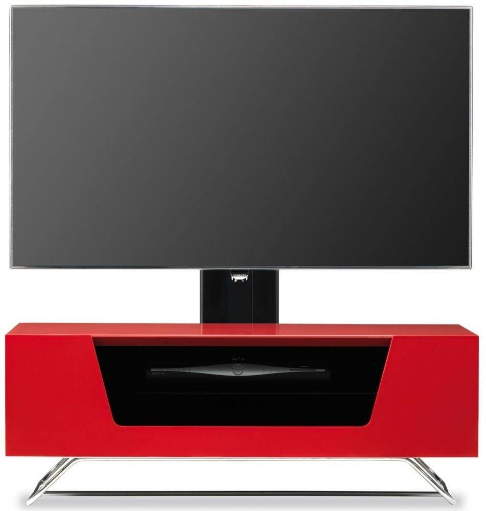 Buy Alphason Chromium 2 Red Cantilever Tv Cabinet – Cro2 1000bkt Inside Red Tv Cabinets (View 7 of 15)