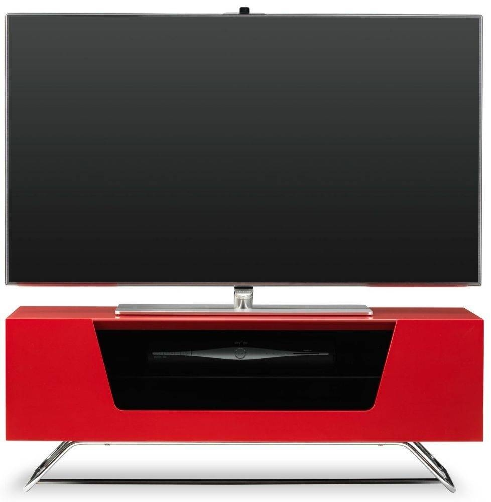 Buy Alphason Chromium 2 Red Tv Cabinet – Cro2 1000cb Red Online Throughout Red Tv Cabinets (View 4 of 15)