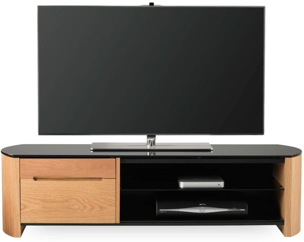 Buy Alphason Finewood Light Oak Tv Cabinet - Fw1350Cb Online - Cfs Uk regarding Light Oak Tv Cabinets (Image 3 of 15)