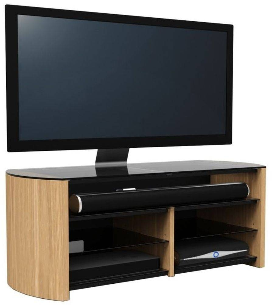 Buy Alphason Finewood Light Oak Tv Cabinet - Fw1350Sb-Lo Online regarding Light Oak Tv Cabinets (Image 4 of 15)