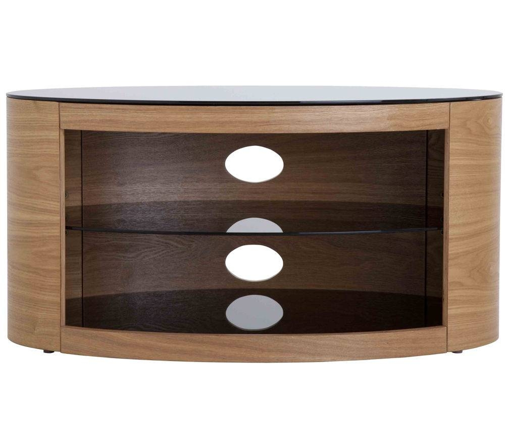 Buy Avf Buckingham 800 Tv Stand | Free Delivery | Currys intended for Glass and Oak Tv Stands (Image 2 of 15)
