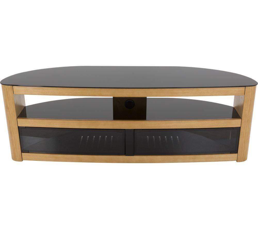 Buy Avf Burghley 1500 Tv Stand - Oak | Free Delivery | Currys intended for Tv Stands in Oak (Image 2 of 15)