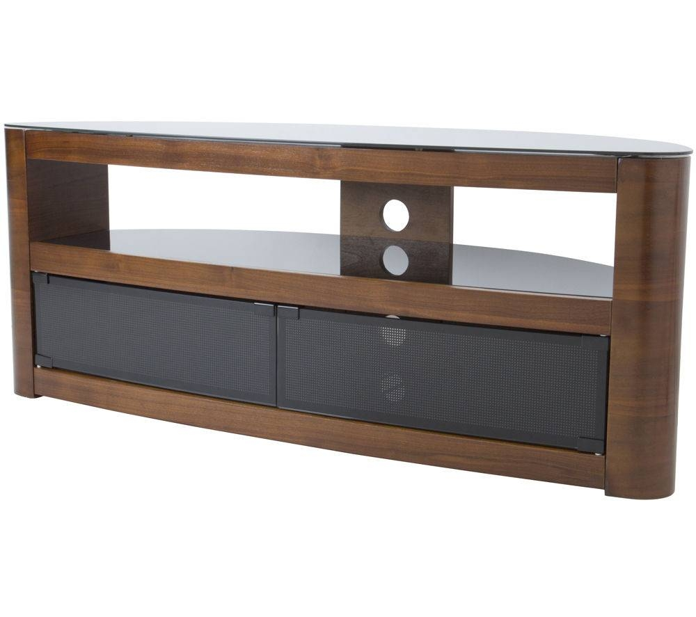 Buy Avf Burghley Tv Stand | Free Delivery | Currys in Walnut Tv Cabinets With Doors (Image 3 of 15)