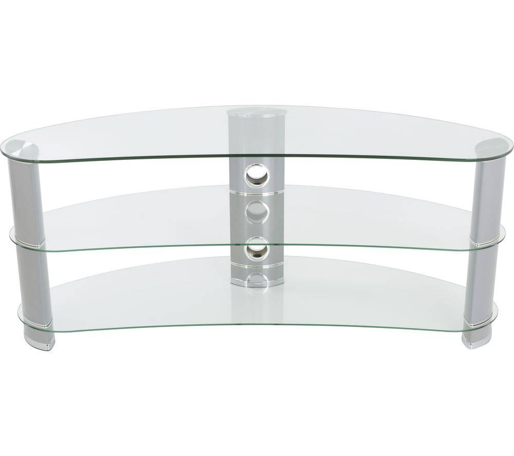 Buy Avf Jellybean Fs1200curcs Tv Stand – Silver | Free Delivery With Regard To Silver Tv Stands (View 7 of 15)