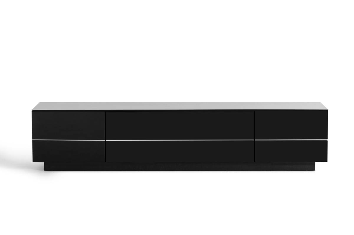 Caeden Contemporary Black High Gloss Tv Stand for Shiny Black Tv Stands (Image 6 of 15)