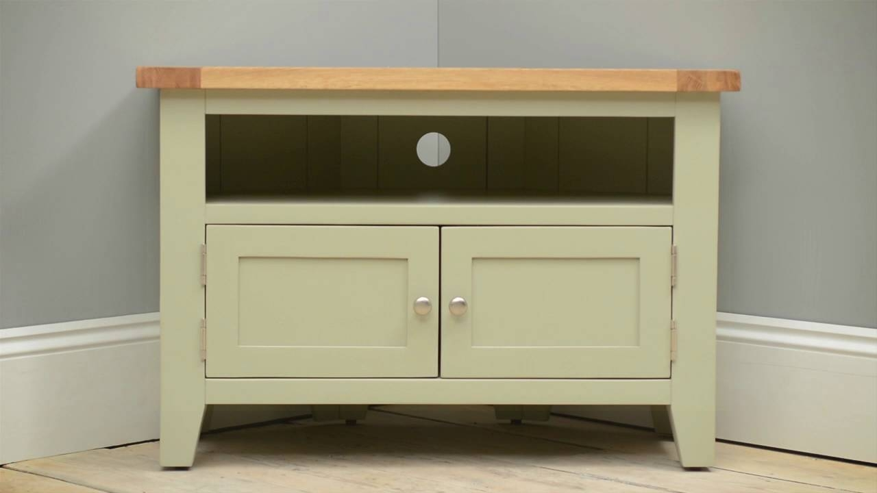 "Caldecote French Grey Corner Tv Stand – Up To 42"" – Cotswold Co Regarding French Country Tv Stands (View 9 of 15)"