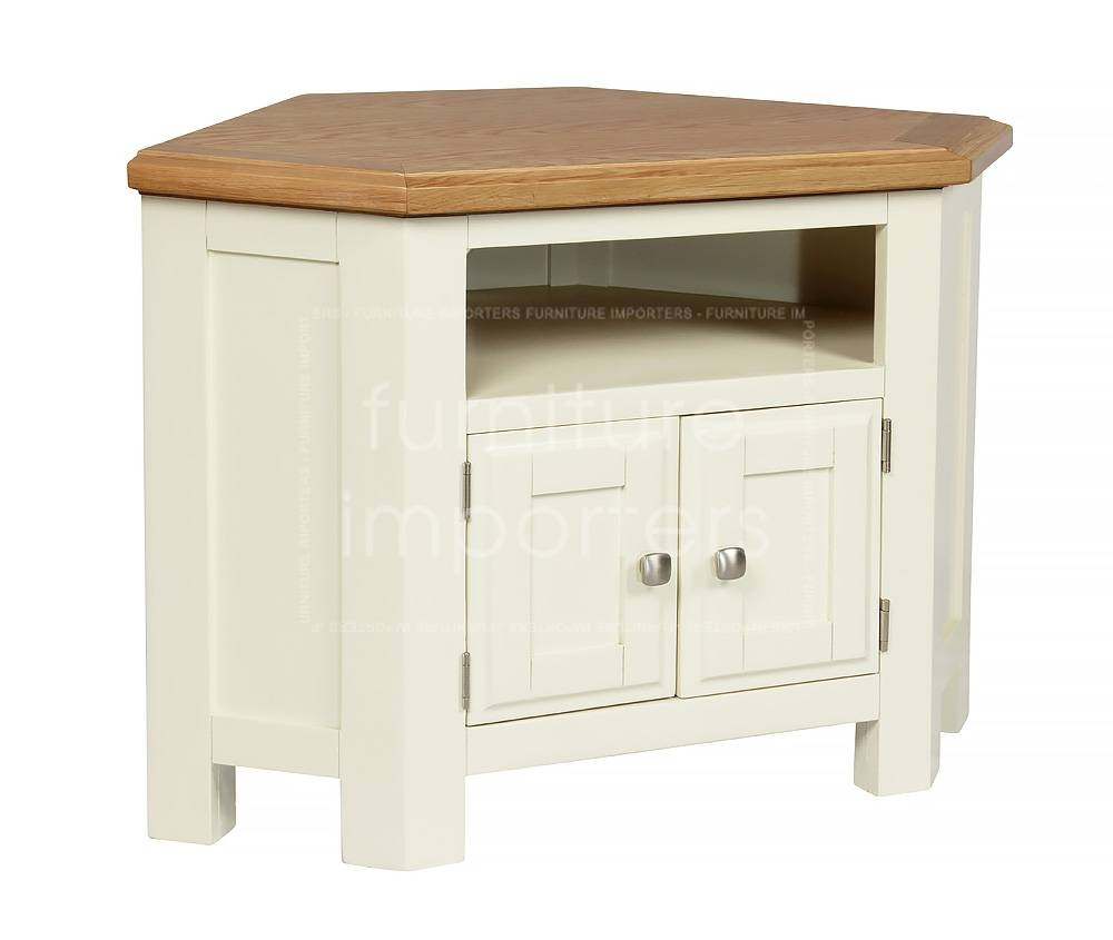 Calero Painted Corner Tv Unit | Calero Painted Range | Furniture Intended For White Corner Tv Cabinets (View 15 of 15)