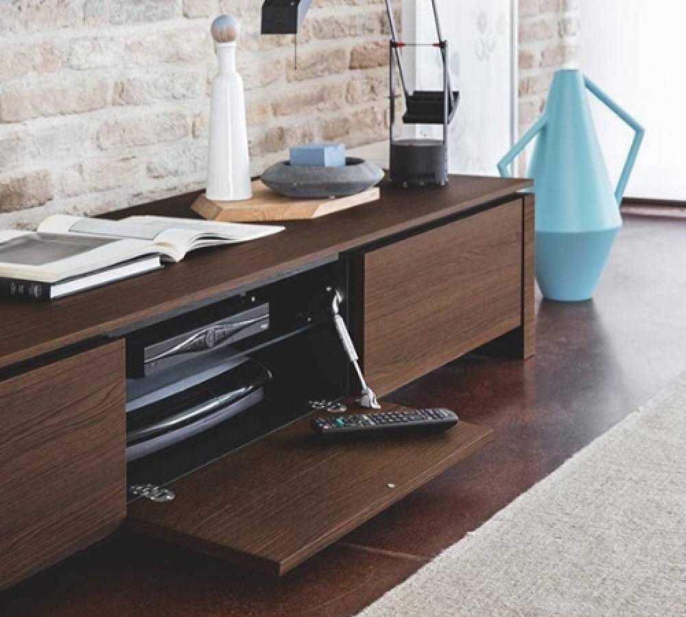 Calligaris Mag Wood Low Tv Unit – Design Icons Within Low Tv Units (View 11 of 15)
