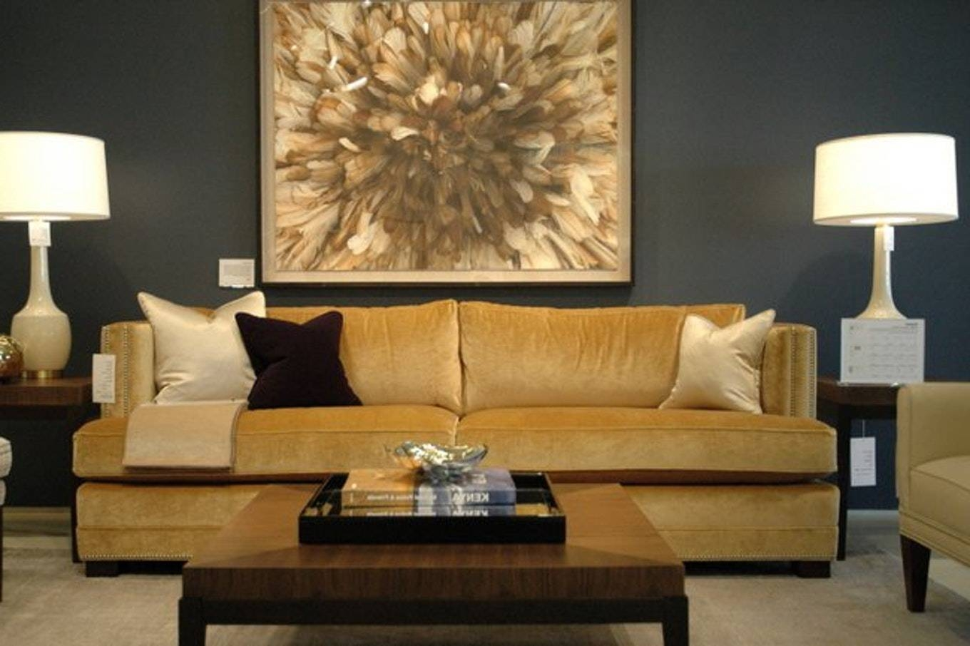 Camel And Gray Bedrooms Transitional Living Room Brown Couch With regarding Camel Color Sofas (Image 3 of 15)