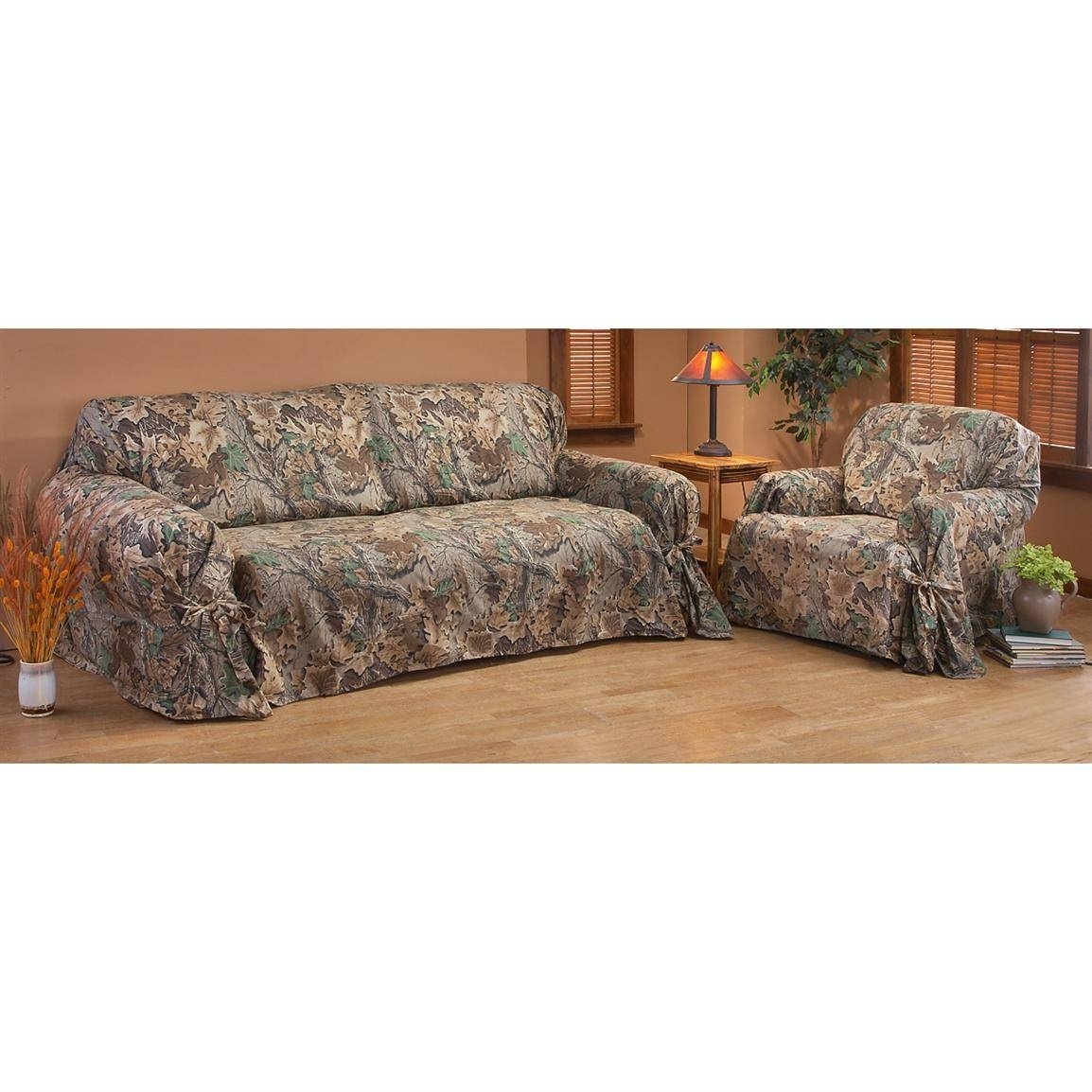 Camouflage Sofa Slipcover | Centerfieldbar pertaining to Camouflage Sofas (Image 4 of 15)