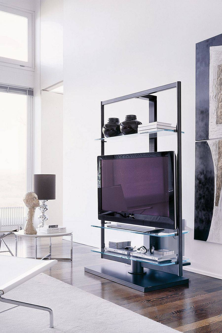 Captivating Tv Stand Small Space 47 On Small Home Remodel Ideas regarding Tv Stands for Small Rooms (Image 8 of 15)