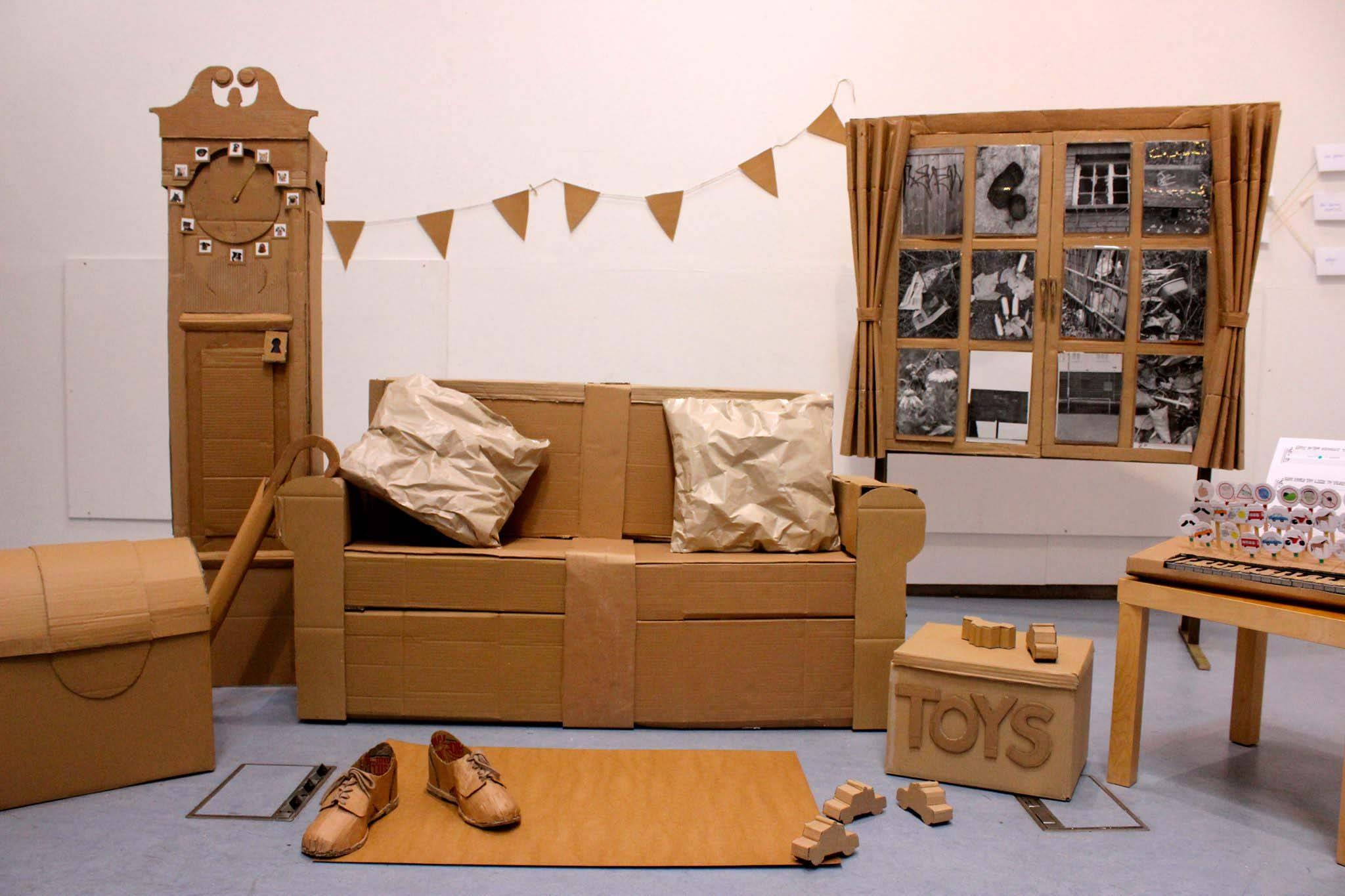 Cardboard Furniture Italian Design Companies Lighthouse Garage How within Cardboard Sofas (Image 5 of 15)