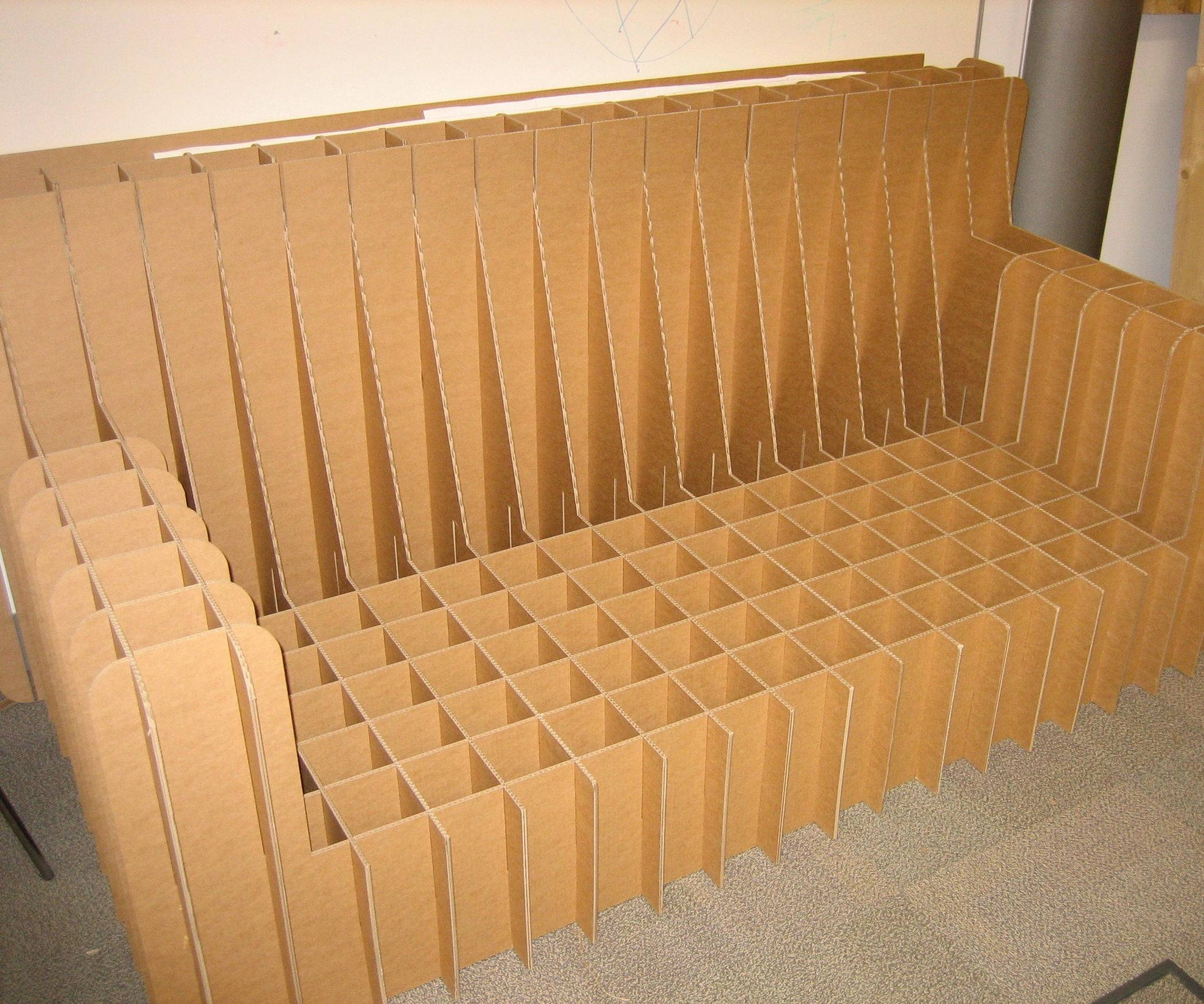 Cardboard Sofa: 5 Steps (With Pictures) inside Cardboard Sofas (Image 9 of 15)