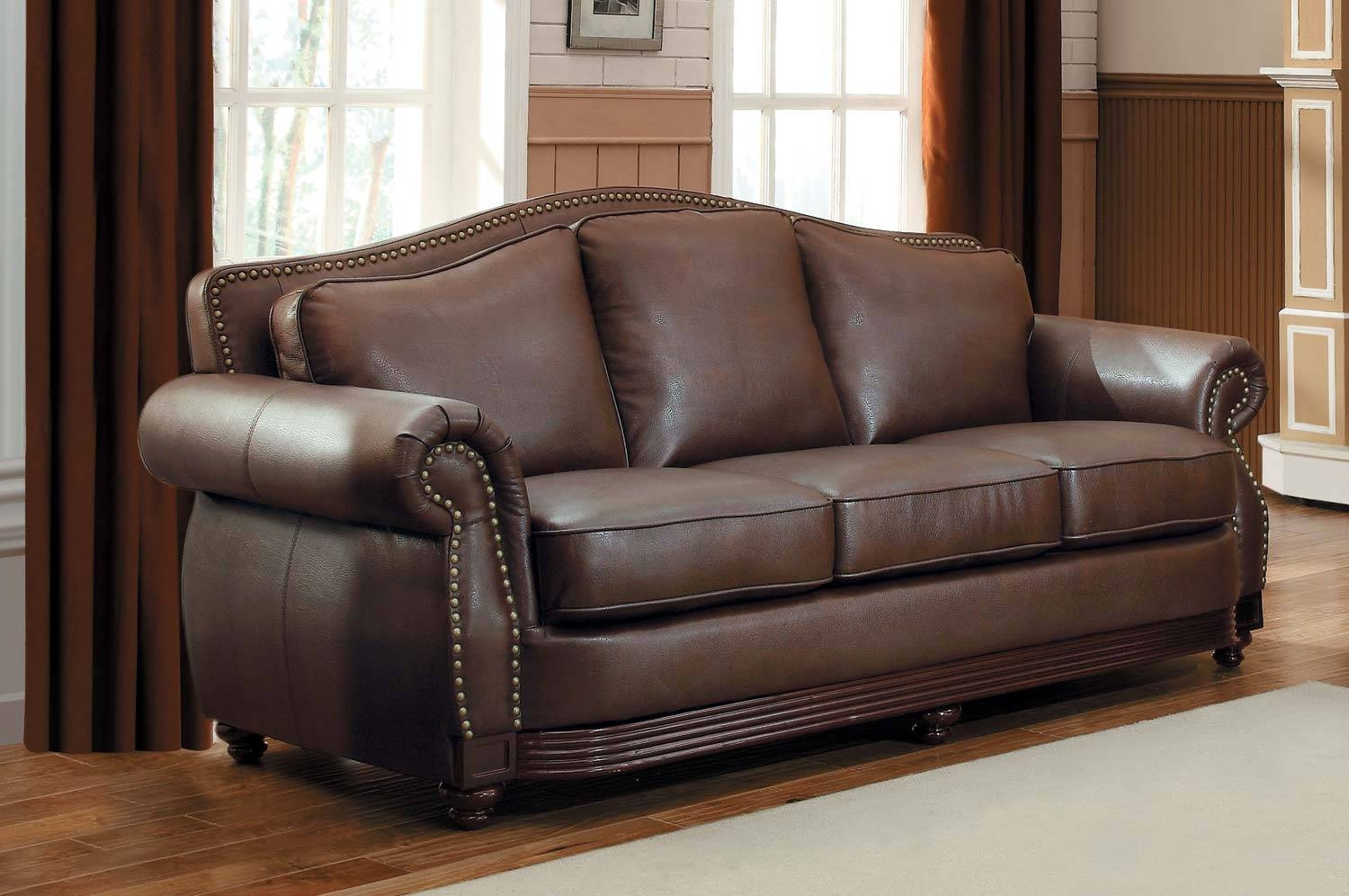 Care Bonded Leather Sofa Ideas — Home Design Stylinghome Design pertaining to Camelback Leather Sofas (Image 3 of 15)