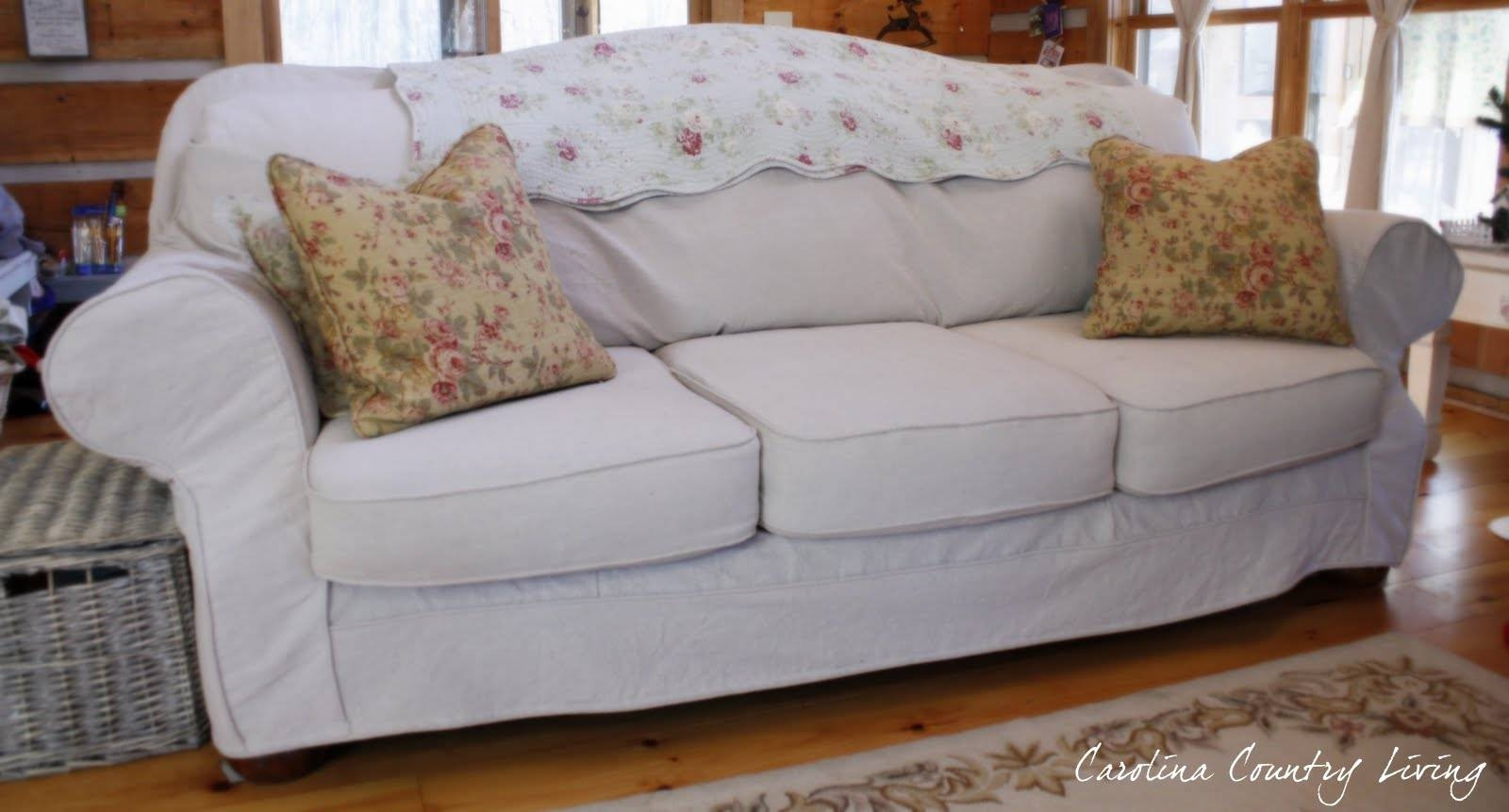 Carolina Country Living: Drop Cloth Sofa Slipcover in Camelback Slipcovers (Image 2 of 15)
