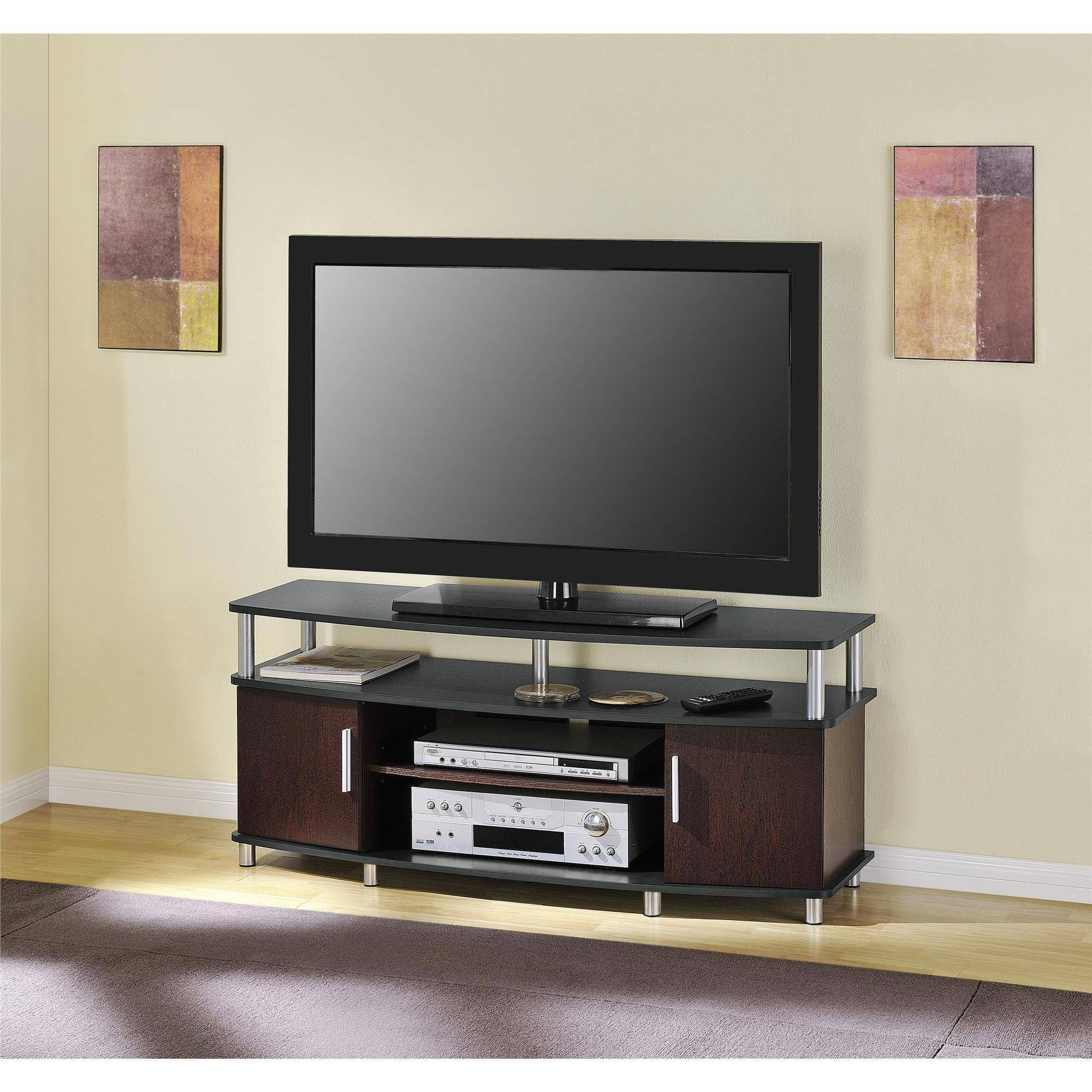 "Carson Tv Stand, For Tvs Up To 50"", Multiple Finishes - Walmart intended for Wide Screen Tv Stands (Image 6 of 15)"