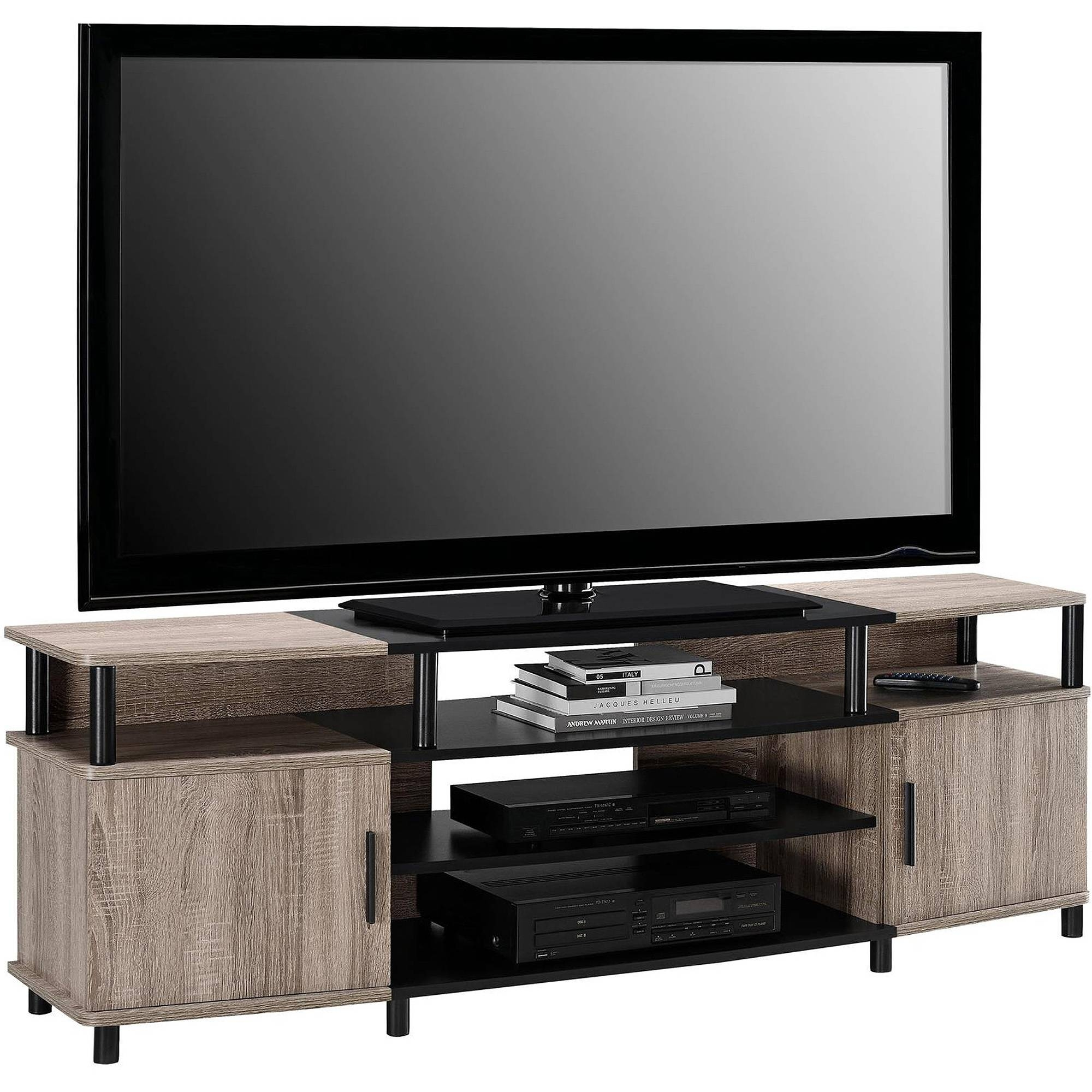 "Carson Tv Stand For Tvs Up To 70"" Wide, Cherry - Walmart pertaining to Tv Stands for 70 Inch Tvs (Image 8 of 15)"