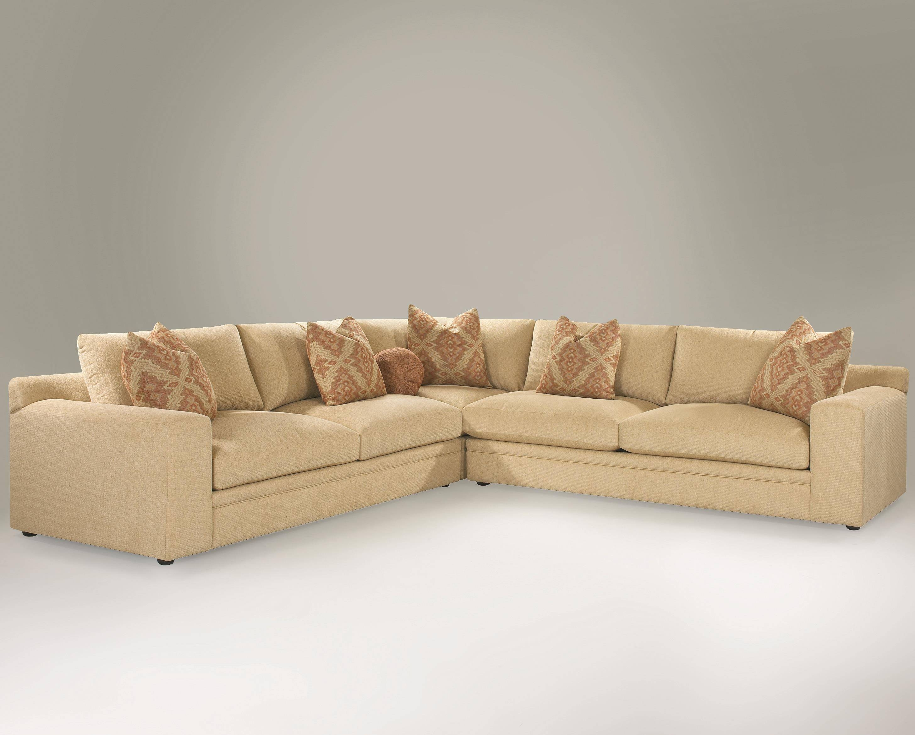 Casual 3-Piece Sectional Sofa With Track Arms And Loose Back throughout Loose Pillow Back Sofas (Image 1 of 15)