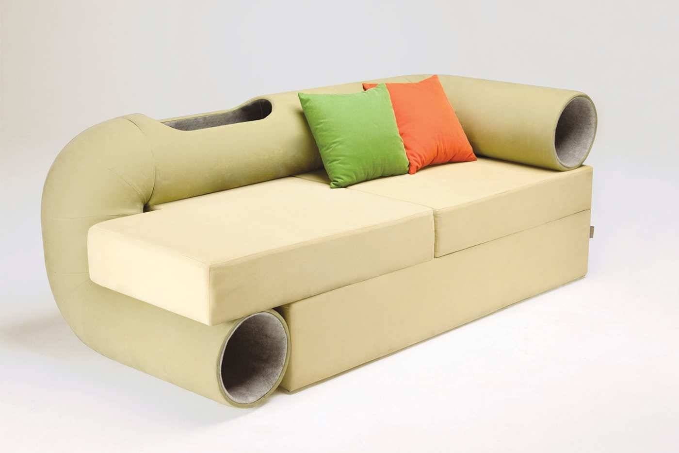Cat Tunnel Sofa, The Smart Space Furniture - House Design Ideas with regard to Cat Tunnel Couches (Image 5 of 15)