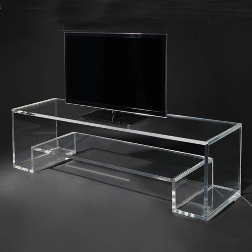 Catálogo De Fabricantes De Perspex Tv Stand De Alta Calidad Y Inside Clear Acrylic Tv Stands (View 2 of 15)