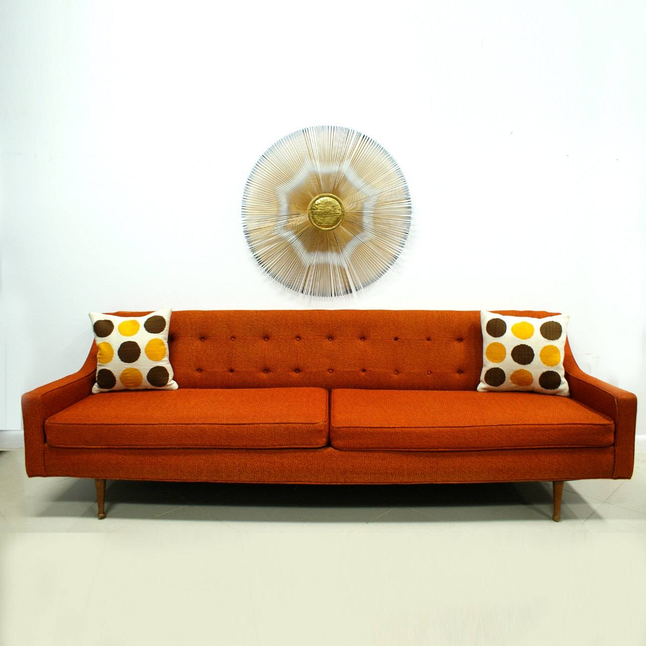 Catchy Orange Sofa Design For Creative Living Room Design - Home intended for Orange Modern Sofas (Image 6 of 15)