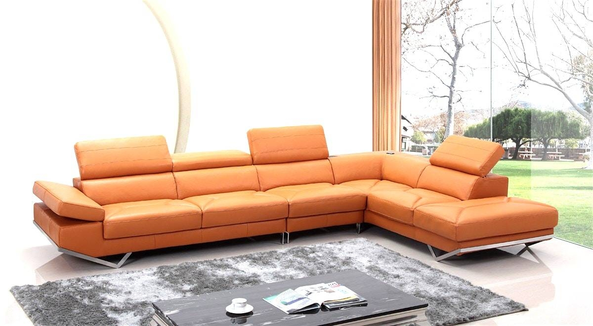 Category: Leather Sofa 0 | Citehotel regarding Burnt Orange Leather Sofas (Image 9 of 15)