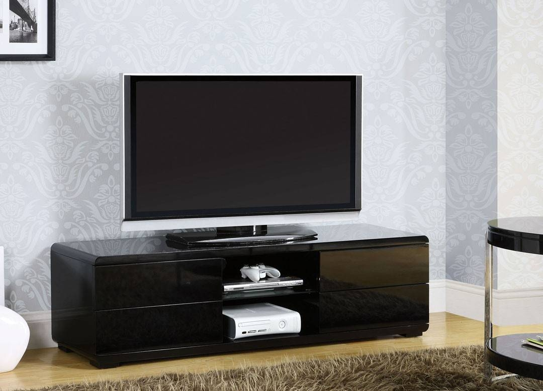 Cerro Black Contemporary Tv Stand La Furniture Center Tv Console with Contemporary Modern Tv Stands (Image 6 of 15)