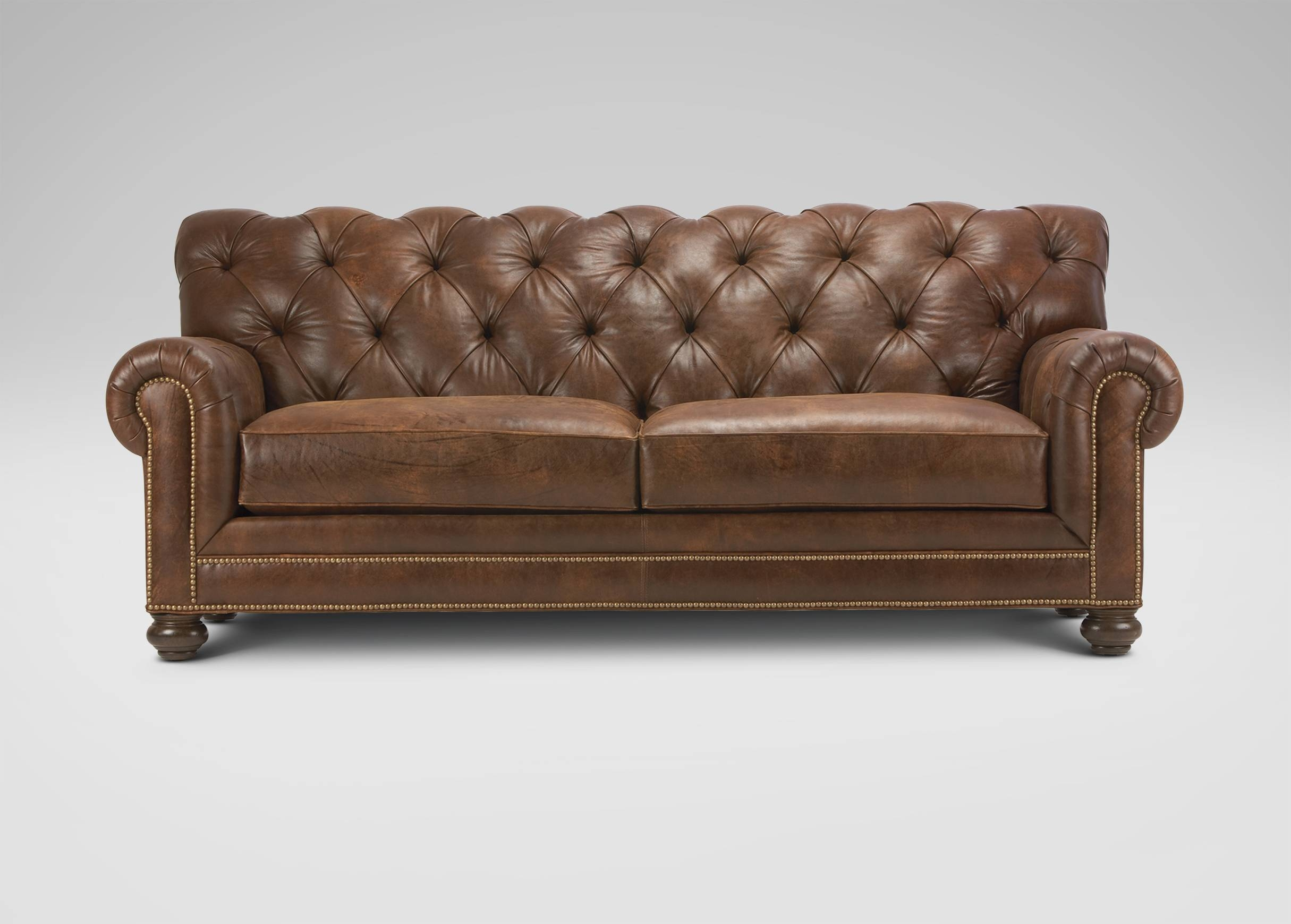 Chadwick Leather Sofa | Sofas & Loveseats within Brown Leather Tufted Sofas (Image 3 of 15)