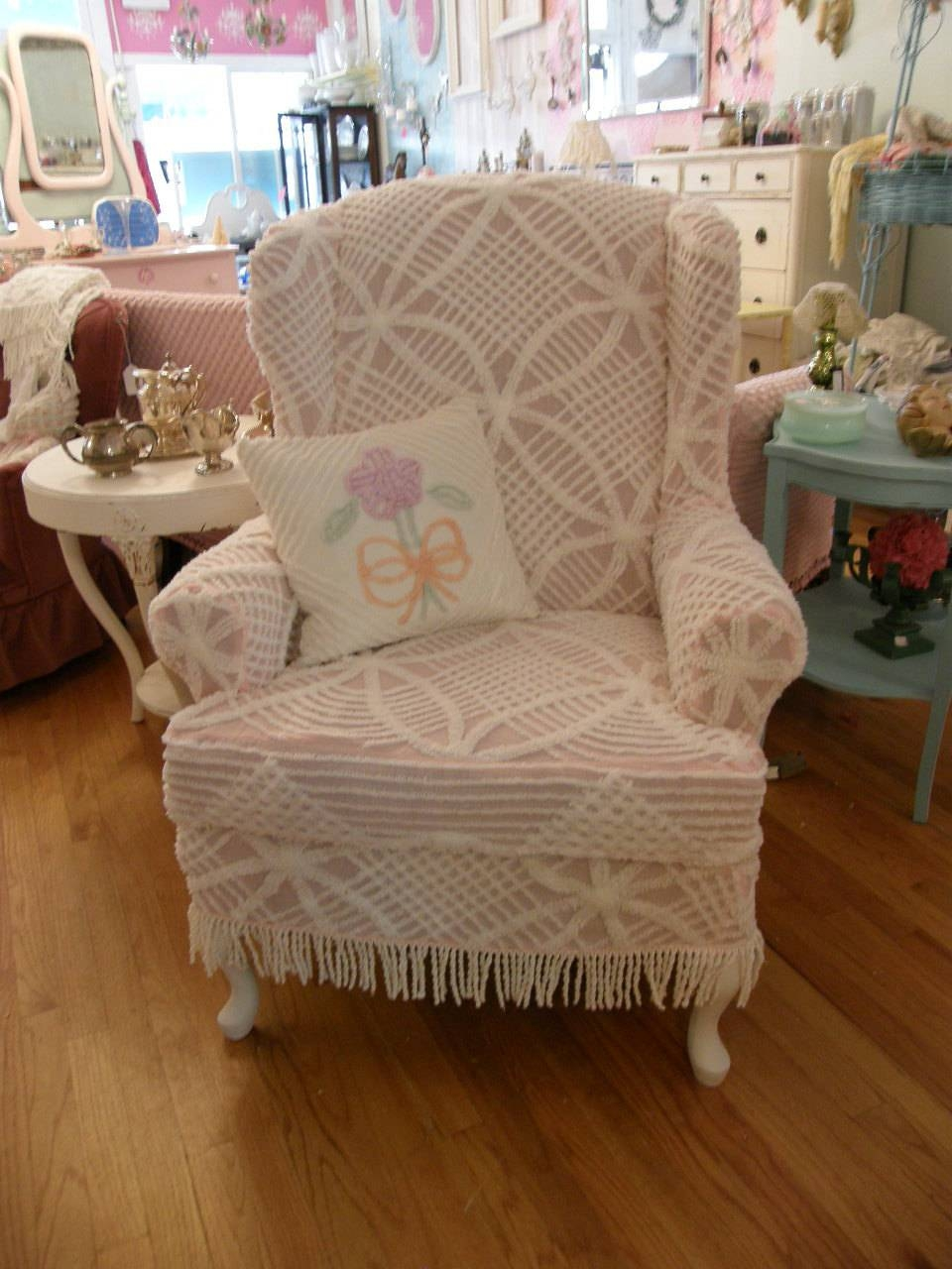 Chair Wing Shabby Chic - Hastac2011 pertaining to Shabby Slipcovers (Image 1 of 15)