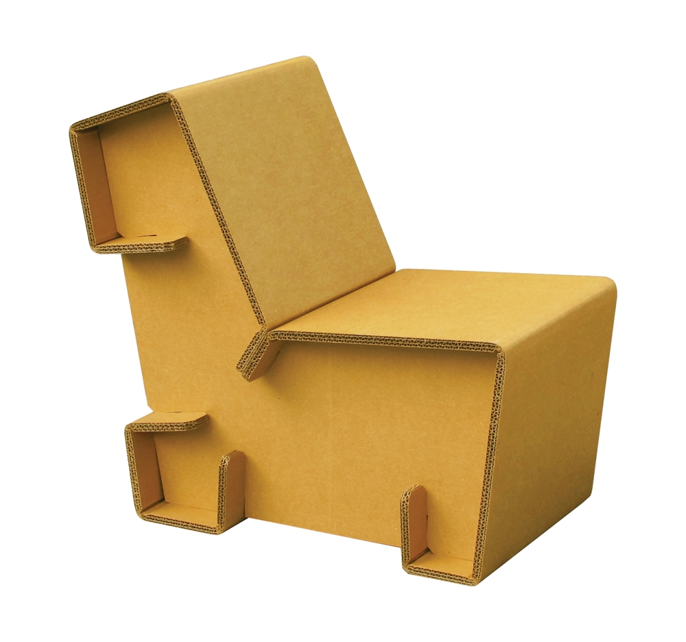 Chairigami – Furniture For The Urban Nomad - Ink Publications inside Cardboard Sofas (Image 10 of 15)